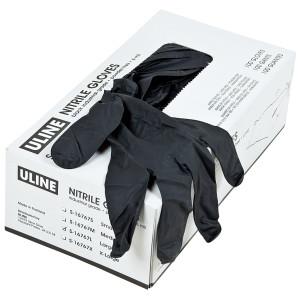 Disposable Black Nitrile Gloves Large