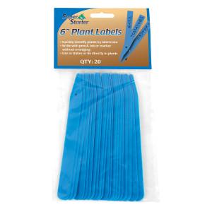 Super Starter Plant Label Blue