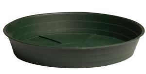 "Green Premium Saucer 12"""